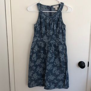 Floral Chambray Colored Dress- LOFT